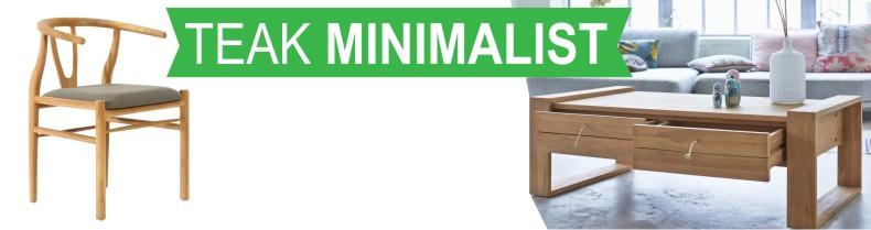 Teak Minimalist Modern Contemporary