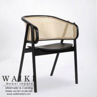 Kursi Rotan Arm Chair Cane waiki mebel jepara central java indonesia
