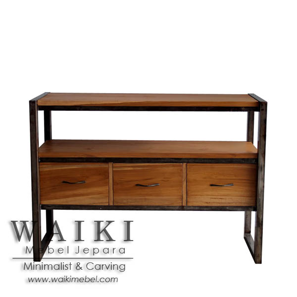 Buffet Kayu Besi Pratama Iron Wood Buffet Furniture
