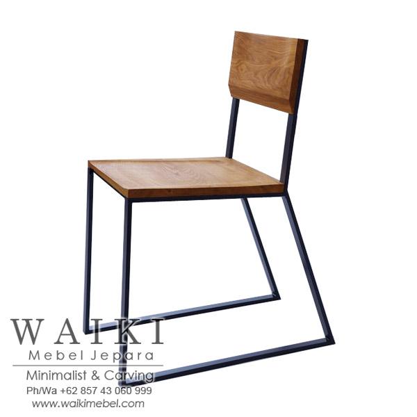 Kursi Cafe Kayu Besi Minimalis Iron Wood Dining Chair