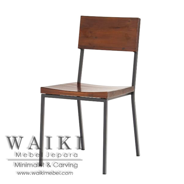 Kursi Cafe Kayu Besi Minimalis Iron Wood Dining Chair