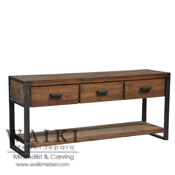 industrial wood furniture. Mebel Rustic Industrial Furniture Kayu Besi Metal Iron Wood Jepara, Buffet Besi,mebel