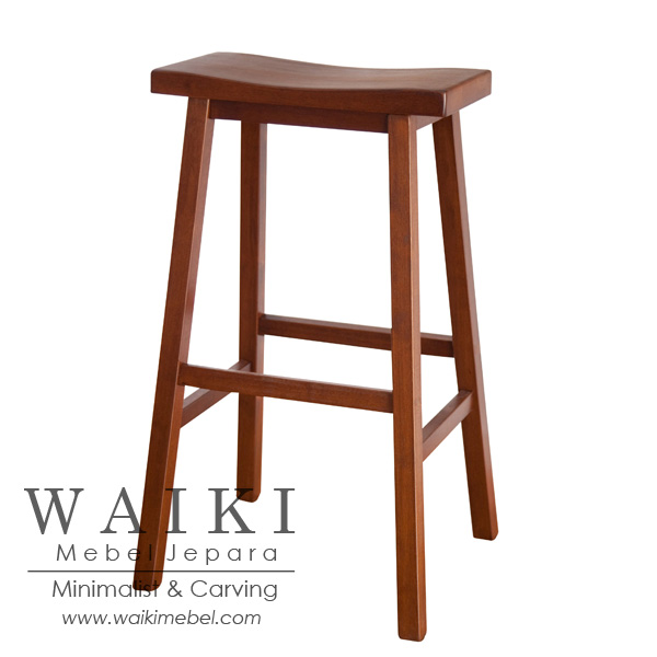 Ready Stock Kursi Stool Cafe Bar Restoran Jati 450 Ribu