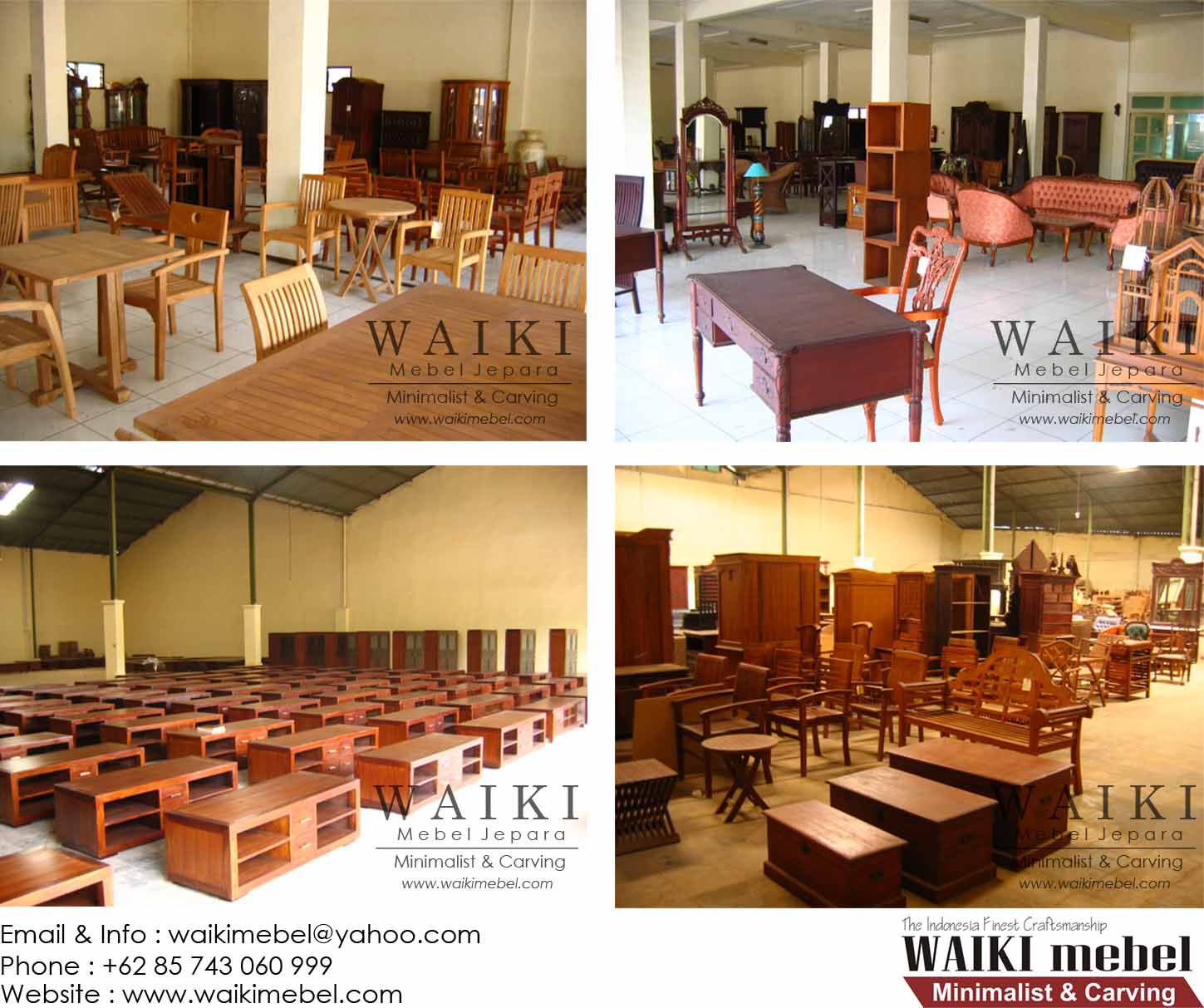 Waiki mebel indoor carving and minimalist furniture manufacturer jepara Uni home furniture indonesia