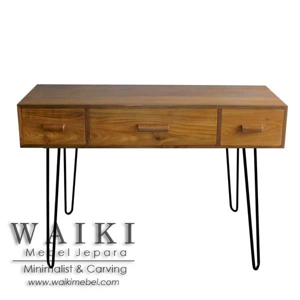 Meja Kerja Kayu Besi Hairpin Metal Wood Writing Desk Industrial