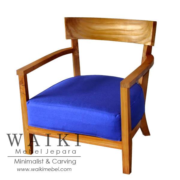 Hotel Living Chair Kursi Tamu Model Minimalis Kontemporer Modern Jati